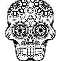 Day of the Dead Sugar Skull Cross Stitch Pattern | Los Angeles Needlework