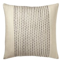Embroidered Dot Silk Pillow Cover – Slate