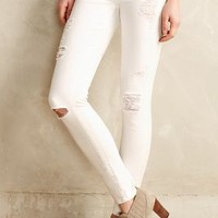 Paige Verdugo Skinny Jeans Optic White Destructed