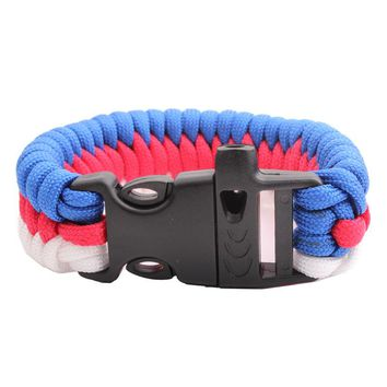 550 Paracord Parachute Cord Military Survival paracord Bracelet  Free Shipping