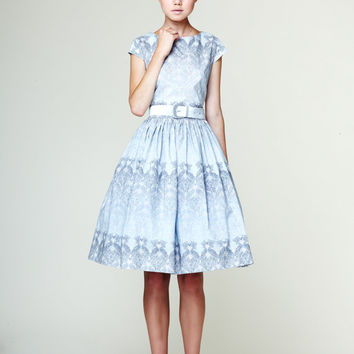 Manon - Сotton dress with low back made of Liberty fabric by Mrs Pomeranz