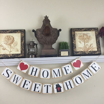 Home Sweet Home Banner, Welcome home, New Home Gift