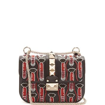 X Zandra Rhodes Lock small leather shoulder bag | Valentino | MATCHESFASHION.COM US