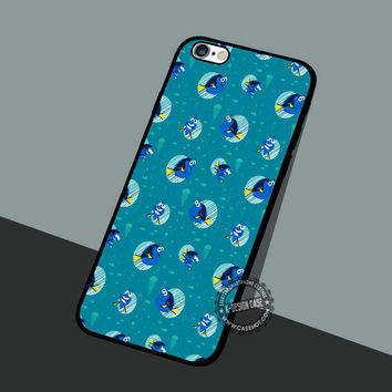 Finding Dory Pattern - iPhone 7 6 5 SE Cases & Covers