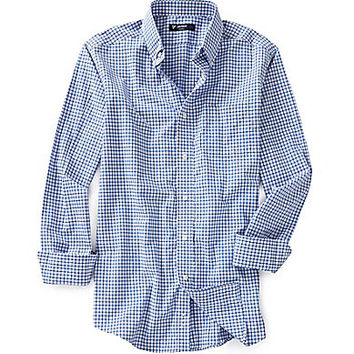 Cremieux Long-Sleeve Check Poplin Woven Shirt