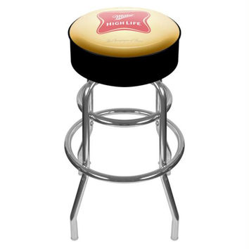 Miller High Life Logo Padded Bar Stool - Made In USA