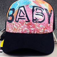 Letter Printed Graphic Cap