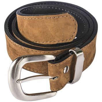 Caramel Brown Leather Belt with Travel Money Pouch