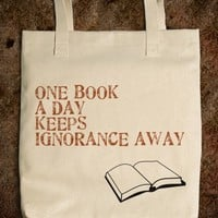 One book a day keeps ignorance away.