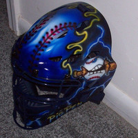 Airbrush Baseball Softball Catchers Helmet Rawlings CFA1JP ADULT catchers mask new