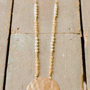 Golden Sun Necklace and Earring Set