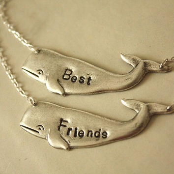 Best Friends Whales Silver