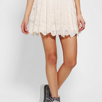 Urban Outfitters - Pins And Needles Embroidered Mesh Circle Skirt
