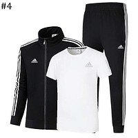 ADIDAS 2018 new high-quality men and women sports and leisure three-piece #4
