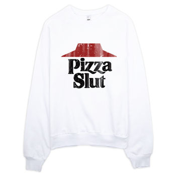 Vintage Pizza Slut Raglan Sweater
