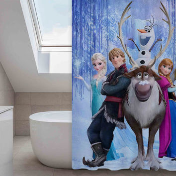 disney frozen custom shower curtain