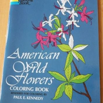 American Wildflowers Coloring Book by Paul E. Kennedy Used