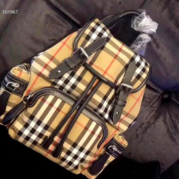 Burberry 2019 new classic plaid backpack