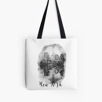 'New York City Drawing' Tote Bag by 4Craig
