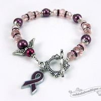 Multiple Myeloma Cancer bracelet awareness jewelry Guardian Angel bracelet cancer awareness burgundy ribbon bracelet gift cancer jewelry