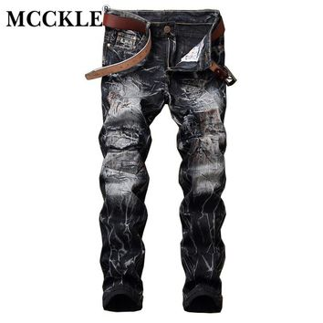 Men's Hip Hop Denim Jeans