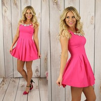 She's a Gem Dress in Fuchsia