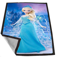 Disney Frozen Princess Little Elsa 66bf7f83-ff85-4600-b6af-0110c9f6aee4 for Kids Blanket, Fleece Blanket Cute and Awesome Blanket for your bedding, Blanket fleece *02*