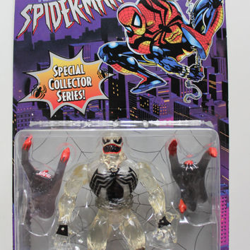 Vintage The Amazing Spider-Man Stealth Venom Action Figure Toy 1996 NIB