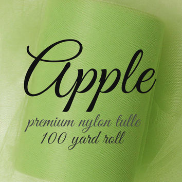 APPLE GREEN - Premium Nylon Tulle - 100 yard roll