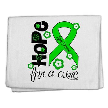 "Hope for a Cure - Lime Green Ribbon Lyme Disease - Flowers 11""x18"" Dish Fingertip Towel"