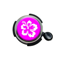 Hibiscus Flower Pink Bicycle Handlebar Bike Bell
