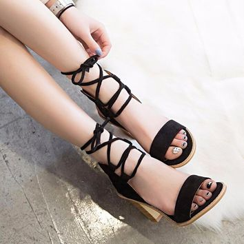 Attractive Women Pumps Open Toe Heels Sandals