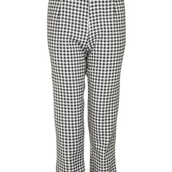 Gingham Frill Trousers - Trousers & Leggings - Clothing