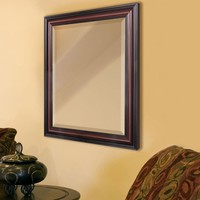 "Traditional Cherry Wall Mirror (28""x34"") (8537) - Illuminada"