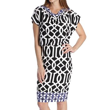Printed Blouson Dress