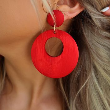 Take All The Time Earrings: Red