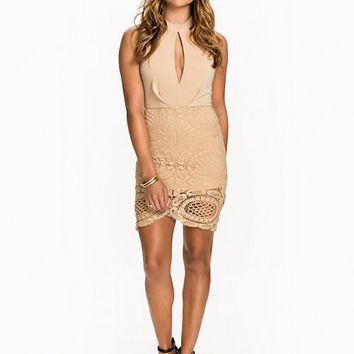 Keyhole Crochet Bodycon, Club L