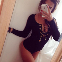 V Neck Chain Body Shaper Jumpsuit