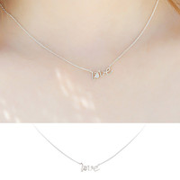 Gift Stylish Shiny New Arrival Jewelry Korean Luxury Accessory 925 Silver Simple Design Alphabet Pendant Lock Necklace [7587130311]