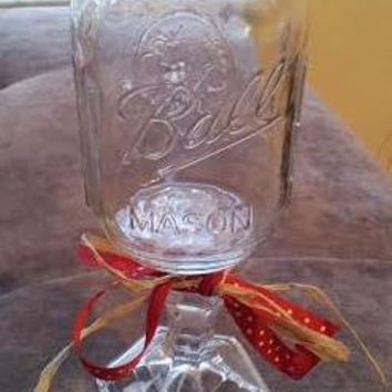 Mason Jar Wine Glass, Redneck Wine Glass, Country Chic Wine Glasses, Hillbilly Wine Glasses