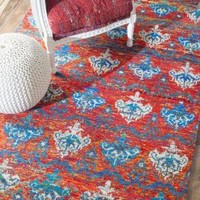 Rugs USA Ikat IK04 Red Rug