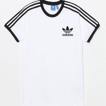 DCCKYB5 adidas California White and Black T-Shirt