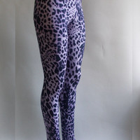 cheetah print extra long yoga pants gym leggings tights animal print leopard print panther stamped cotton and elastan,workout training pants