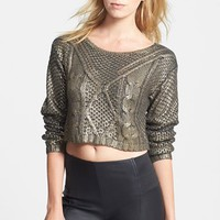 Women's Lucy Paris Coated Crop Sweater