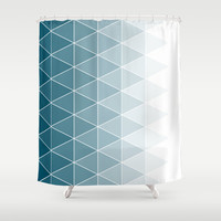 Triangle Pattern Shower Curtain by Dale J Cheetham