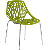 Birds Nest Dining Side Chair in Green