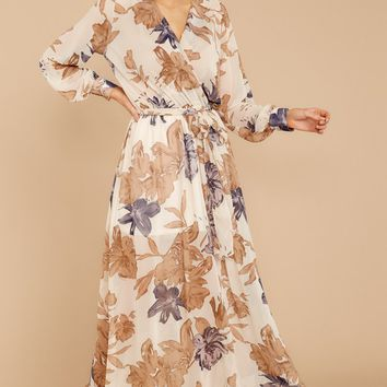 Perfect For Fall Maxi Dress In Autumnal Bloom