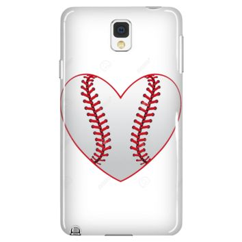Baseball Heart Phone Case - Samsung Galaxy s3 s4 Note - Apple iPhone 5 6 plus