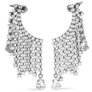 Christopher Kane - Rain silver-tone crystal earrings