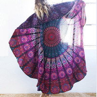 2016 Beach Casual Retro Vintage Tribal Ethnic Relaxing Beach Summer Towel Cape Matt Shawl Cover Up Plaid Sunblock Wall Tapestry Coverlet _ 6320